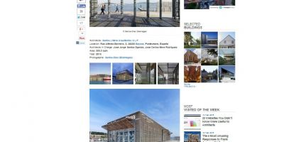 La Estación Marítima de Baiona publicada en Archdaily y Plataforma Arquitectura