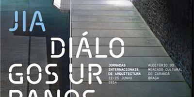 """Conferencia de Santos-Mera arquitectos en las """"Jornadas Internacionais de Arquitectura [JIA], Diálogos Urbanos organizadas por la Ordem dos Arquitectos SRN, el día 12 de Junio en Braga, Portugal"""
