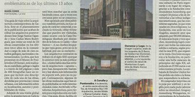 Artículo sobre la Guía en las páginas de cultura de La Voz de Galicia