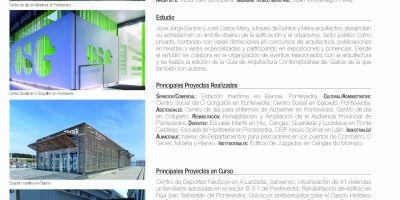 Santos y Mera arquitectos en la Guía de Estudios de Arquitectura 2015-2016 de la revista Promateriales