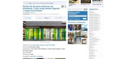 Plataforma Arquitectura y Archdaily publican el Centro de Día para Enfermos de Alzhéimer de Pontevedra