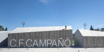 Finalistas en los Premios FAD 2020, en la categoría de arquitectura, con el Campo de Fútbol de Campañó