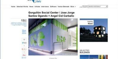 Plataforma Arquitectura y Archdaily publican el Centro Social de O Gorgullón